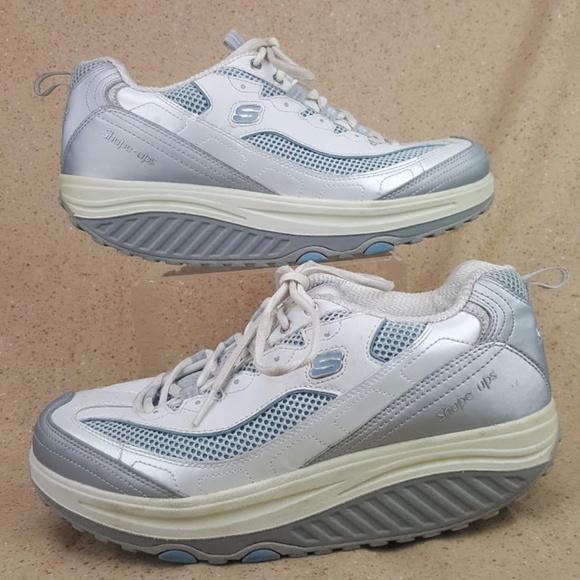 Skechers 11803 Shape Ups Walking Shoes White W 10